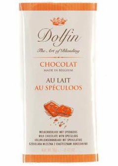 Dolfin Belgian Chocolate - Milk Chocolate Bar with Speculoos, 70g/2.47oz. (Single)