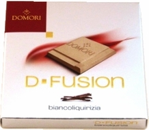 "Domori Italian Chocolate - D-Fusion ""Biancoliquirizia"" White Chocolate, 25g/.88oz (Single)."