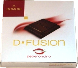 "Domori Italian Chocolate - D-Fusion ""Peperoncino"" Dark Chocolate, 60% Cocoa, 25g/.88oz. (8 Pack)"