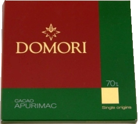 "Domori Italian Chocolate - Single Origin ""Apurimac"", 70% Cocoa, 50g/1.76oz (12 Pack)."