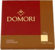 "Domori Italian Chocolate - Single Origin ""Arriba"", 70% Cocoa, 25g/0.88oz. (6 Pack)"