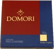 "Domori Italian Chocolate - Single Origin ""Rio Caribe"", 70% Cocoa, 25g/0.88oz. (6 Pack)"
