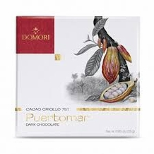 "Domori ""Puertomar"", Cacao Criollo series, Italian Dark Chocolate Bar, 75% Cocoa, 25g/.88oz (6 Pack)"