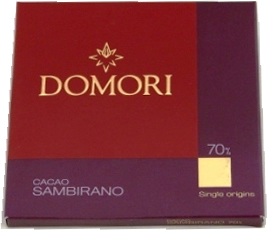 "Domori ""Sambirano"", Italian Chocolate - Single Origin, 70% Cocoa, 25g/.88oz. (12 Pack)"