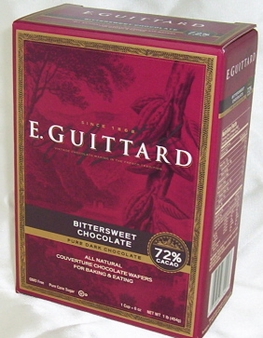 """E. Guittard Chocolate - """"Coucher du Soleil"""" (Sunset) Bittersweet Dark Chocolate Wafers for Baking and Eating, 72% Cocoa, 454g/1lb."""