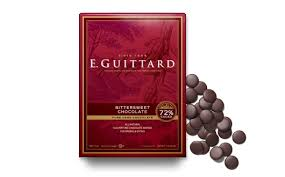 "E. Guittard Chocolate - ""Coucher du Soleil"" (Sunset) Bittersweet Dark Chocolate Wafers for Baking and Eating, 72% Cocoa, 454g/1lb."