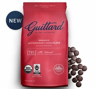 Guittard Chocolate - Organic Bittersweet Chocolate Baking Wafers, 74% Cocoa, 12oz. Bag (4 Pack)