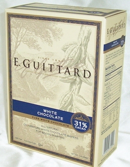 """E. Guittard Chocolate - """"Creme Francaise"""" (French Cream) White Chocolate Wafers for Baking and Eating, 31% Cocoa, 454g/1lb."""