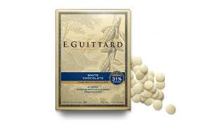 "E. Guittard Chocolate - ""Creme Francaise"" (French Cream) White Chocolate Wafers for Baking and Eating, 31% Cocoa, 454g/1lb. (4 Pack)"