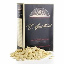 "E. Guittard Chocolate -""Creme Francaise"" (French Cream)  White Chocolate Wafers for Baking and Eating, 31% Cocoa, 3kg./6.6lb. (Single)"