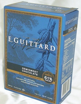 "E. Guittard Chocolate - ""Lever du Soleil"" (Sunrise) Semisweet Dark Chocolate Wafers for Baking and Eating, 61% Cocoa, 454g/1lb."