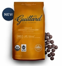 Guittard Chocolate - Organic Semisweet Chocolate Baking Wafers, 66% Cocoa, 12oz. Bag (8 Pack)