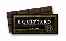 "E. Guittard Chocolate - ""Nocturne"" Extra-Bittersweet Chocolate Bar, 91% Cocoa, 56.7g/2.0oz. (12 Pack)"