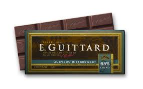 "E. Guittard Chocolate - ""Quevedo - Ecuador"" Bittersweet Chocolate Bar, 65% Cocoa, 56.7g/2.0oz. Kosher Dairy (Single)"