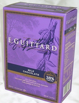 """E. Guittard Chocolate - """"Soleil d'Or"""" (Golden Sun) Milk Chocolate Wafers for Baking and Eating, 38% Cocoa, 454g/1lb."""