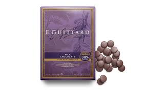 "E. Guittard Chocolate - ""Soleil d'Or"" (Golden Sun) Milk Chocolate Wafers for Baking and Eating, 38% Cocoa, 454g/1lb."