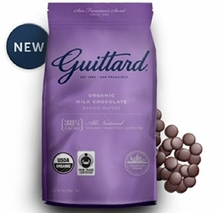 Guittard Chocolate - Organic Milk Chocolate Baking Wafers, 38% Cocoa, 12oz Bag (4 Pack)