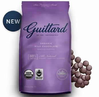 Guittard Chocolate - Organic Milk Chocolate Baking Wafers, 38% Cocoa, 12oz Bag (8 Pack)