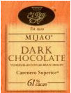 "El Rey Venezuelan Chocolate - Single Origin ""Mijao"" Dark Bar, 61% Cocoa, 80g/2.8oz."