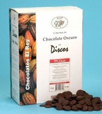 "El Rey Venezuelan Chocolate - Single Origin ""Mijao"" Dark DISCOS, 61% Cocoa, 1kg/2.2lbs. Repackaged"