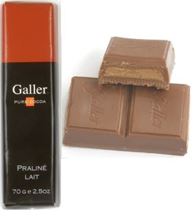Galler Belgian Chocolate - Milk Chocolate Praline Naturally Flavored Cocoa, 70g/2.5oz (Single)