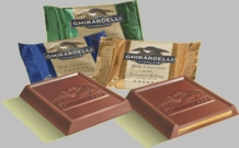 Ghirardelli Chocolate - Assorted Bag of 30 Squares, 5 Flavors, 10 grams ea.