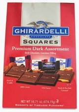 "Ghirardelli Chocolate - Ghirardelli Chocolate Squares Premium ""Dark Assortment"" Red Bag 16.71 oz/ 474.15g (30ct. Bag)"
