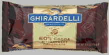 "Ghirardelli Chocolate - ""Bittersweet Chocolate"" Premium Baking Chips, 60% Cocoa, 326g/11.5oz."