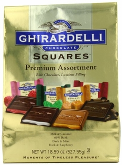 "Ghirardelli Chocolate - Ghirardelli Chocolate Squares ""Premium Assortment"" Gold Bag, 18.59 oz/ 527.5g (30ct Bag)"