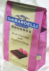 Ghirardelli Chocolate - Dark Chocolate Squares with Raspberry Filling, 5.32oz/151g.