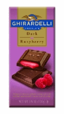 Ghirardelli Chocolate - Dark Chocolate with Raspberry Filling Premier Bar, 100g/3.5oz. (Single)