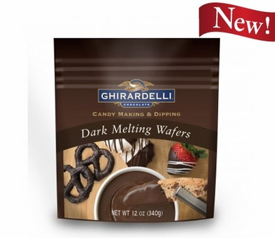 Ghirardelli Chocolate - Dark Melting Wafers Candy Making and Dipping 340g/12oz (Single)