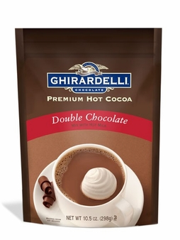 "Ghirardelli Chocolate - ""Double Chocolate"" Hot Chocolate BAG (6), 298g/10.5oz."