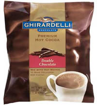 "Ghirardelli Chocolate - ""Double Chocolate"" Hot Chocolate Bulk Bag, 32oz., 2 Pounds (4 Pack)"