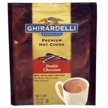 "Ghirardelli Chocolate - ""Double Chocolate"" Hot Chocolate Packets, 15 count Box."
