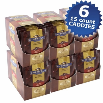 "Ghirardelli Chocolate - ""Double Chocolate"" Hot Chocolate Packets, 6 - 15 count Box."