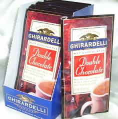 """Ghirardelli Chocolate - """"Double Chocolate"""" Hot Chocolate Packets, 12 count Box."""
