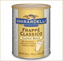 "Ghirardelli Chocolate - ""Frappe' Classico"" Classic White, 1.42kg/50oz. (Single)"