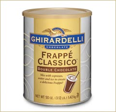 "Ghirardelli Chocolate - ""Frappe' Classico"" Double Chocolate, 1.42kg/50oz."