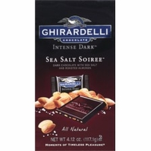 Ghirardelli Chocolate - Ghirardelli Chocolate Intense Dark Sea Salt Soiree Dark Chocolate with Sea Salt and Roasted Almonds Squares 4.12 oz Bag