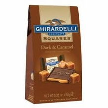 Ghirardelli Chocolate - Ghirardelli Chocolate Squares Dark & Caramel Rich Chocolate, Luscious Filling 5.32 oz Bag (Single)