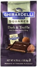 Ghirardelli Chocolate - Ghirardelli Chocolate Squares Dark & Truffle Rich Chocolate, Luscious Filling, 4.78 oz Bag (Single)