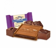 Ghirardelli Chocolate - Ghirardelli Chocolate Squares Double Fudge, Rich Milk Chocolate, Lusious Filling 4.63 oz Bag (Single)