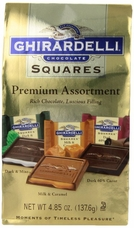 Ghirardelli Chocolate - Ghirardelli Chocolate Squares Premium Assortment Rich Chocolate, Luscious Filling, 4.85 oz Bag (Single)