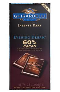 "Ghirardelli Chocolate - Intense Dark Chocolate with a hint of Madagascan Vanilla, ""Evening Dream"", 60% Cocoa, 100g/3.5oz. (12 Pack)"