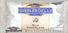 "Ghirardelli Chocolate - ""Milk Chocolate"" Premium Baking Chips, 326g/11.5oz. (12 Pack)"