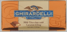 Ghirardelli Chocolate - Milk Chocolate with Caramel Filling Premier Bar, 100g/3.5oz (Single).
