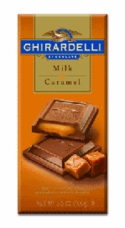 Ghirardelli Chocolate - Milk Chocolate with Caramel Filling Premier Bar, 100g/3.5oz.
