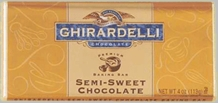 "Ghirardelli Chocolate - ""Semi-Sweet Chocolate"" Premium Baking Bar, 113g/4oz.  (6 Pack)"