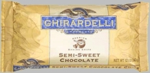 "Ghirardelli Chocolate - ""Semi-Sweet Chocolate"" Premium Baking Chips, 340g/12oz.  (6 Pack)"